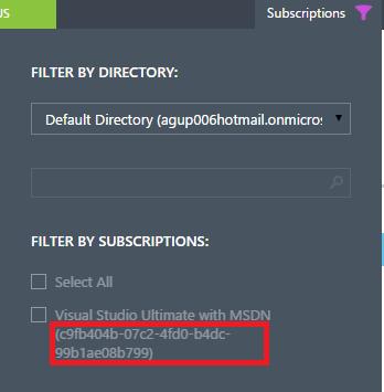 SubscriptionID